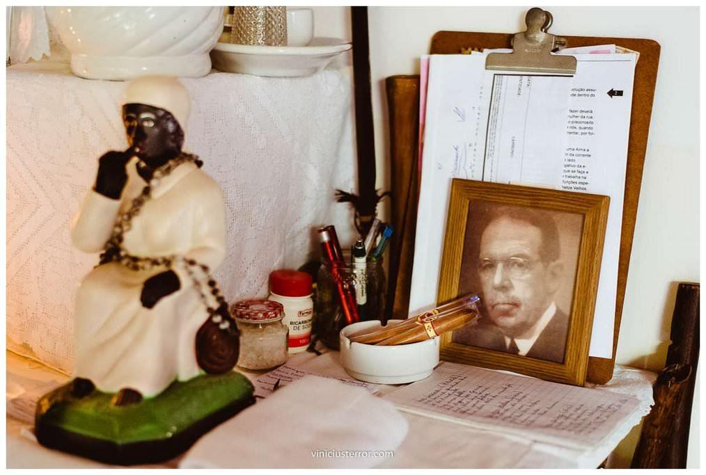 detalhes do altar casamento terreiro umbandista
